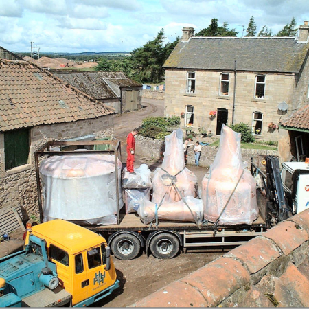 The arrival of the copper stills