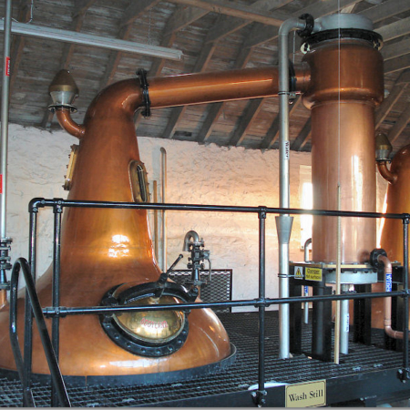 Apart from the stills themselves, which were made on Speyside, everything else was sourced locally.